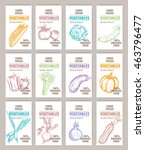 set banner hand drawn vector... | Shutterstock .eps vector #463796477