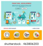 flat front end development of... | Shutterstock .eps vector #463806203