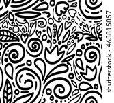 seamless scandinavian pattern...   Shutterstock .eps vector #463815857