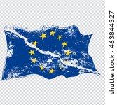 european union flag in grunge... | Shutterstock .eps vector #463844327