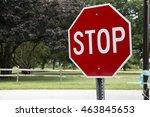 red stop sign | Shutterstock . vector #463845653