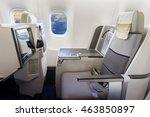 airplane cabin business class... | Shutterstock . vector #463850897