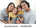 portrait of a smiling family... | Shutterstock . vector #46386280