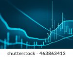 candle stick graph chart of
