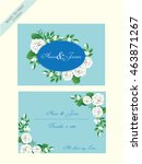 vintage wedding invitation card ... | Shutterstock .eps vector #463871267