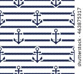 set of sea and nautical... | Shutterstock . vector #463875317