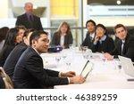 business people in board room... | Shutterstock . vector #46389259