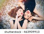 top view of sensual attractive... | Shutterstock . vector #463909913