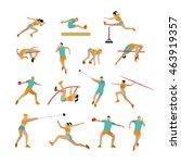 set of people in sport athletic ... | Shutterstock . vector #463919357