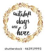 hand drawn autumnal round gold... | Shutterstock .eps vector #463919993