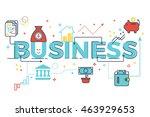 business word lettering... | Shutterstock .eps vector #463929653