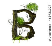 leaves and tree font  on white... | Shutterstock .eps vector #463931327