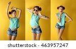 beautiful fashion girl on...   Shutterstock . vector #463957247