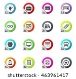 school web icons for user...