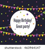 set banner with flags and... | Shutterstock . vector #463964147