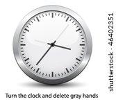 vector clock face   easy change ... | Shutterstock .eps vector #46402351