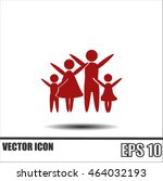 family vector icon | Shutterstock .eps vector #464032193