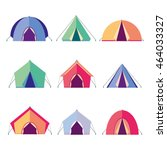 vector icons different tents... | Shutterstock .eps vector #464033327