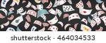 poker card scattered banner | Shutterstock .eps vector #464034533