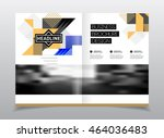 startup presentation layout or... | Shutterstock .eps vector #464036483