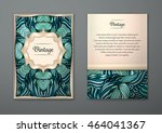 vintage card with tribal... | Shutterstock .eps vector #464041367