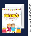stylish text friends forever... | Shutterstock .eps vector #464042963