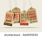set of four creative sale or... | Shutterstock .eps vector #464045033