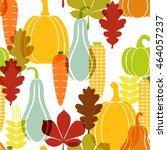 harvest  pumpkin seamless... | Shutterstock .eps vector #464057237