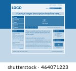 responsive web layout template... | Shutterstock .eps vector #464071223