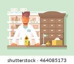 pharmacist at the pharmacy   Shutterstock .eps vector #464085173
