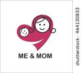 me and mom  logo | Shutterstock .eps vector #464130833