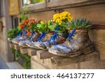 the little shop with shoes in... | Shutterstock . vector #464137277