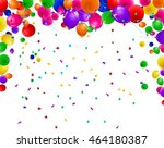 birthday background with... | Shutterstock . vector #464180387