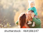 happy family spend time in... | Shutterstock . vector #464186147