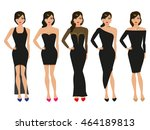 vector illustration of a set of ... | Shutterstock .eps vector #464189813