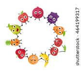 cartoon fruits characters | Shutterstock . vector #464199317