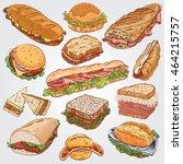 vector illustration of various... | Shutterstock .eps vector #464215757