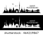 saint petersburg skyline  ... | Shutterstock .eps vector #464219867