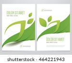 green eco brochure  flyer ... | Shutterstock .eps vector #464221943