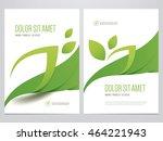 green eco brochure  flyer ... | Shutterstock .eps vector #464221943