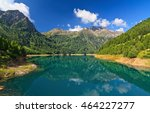 view of pian palu' lake in pejo ... | Shutterstock . vector #464227277