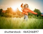 cheerful woman. young happy... | Shutterstock . vector #464246897