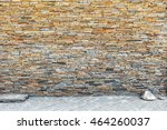 wall built of natural stone.... | Shutterstock . vector #464260037