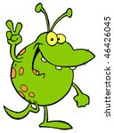green alien smiling and... | Shutterstock .eps vector #46426045