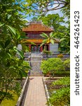 minh lau pavilion and trung dao ... | Shutterstock . vector #464261423