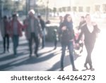 people walking down the street... | Shutterstock . vector #464264273