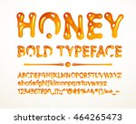 vector honey bold typeface | Shutterstock .eps vector #464265473