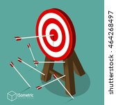 successful attempt  miss target ... | Shutterstock .eps vector #464268497