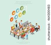 isometric business people... | Shutterstock .eps vector #464300483
