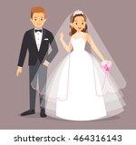 cartoon flat vector... | Shutterstock .eps vector #464316143